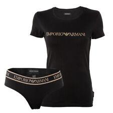 Emporio Armani Damen Unterwäsche Set, Shirt+Slip, Baumwoll Stretch, Geschenkset