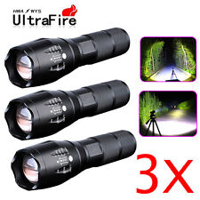3 x Tactical Police 12000LM CREE T6 LED Flashlight Super High-Powered Flashlight
