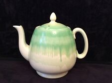 SHELLEY ART DECO GREEN DRIP GLAZE TEAPOT 1 1/2 PINT