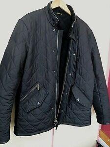 Mens BARBOUR Powell Quilt Fleece Lined Jacket  ..  Large ..  EXCELLENT condition
