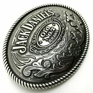 Jack Daniels No. 7 Large Oval Belt Buckle 40mm wide