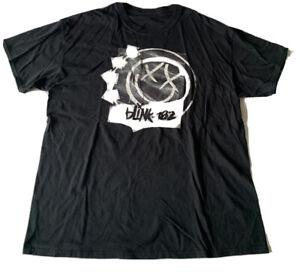 Blink-182 Logo Graphic Band Tee Shirt Black Size 2XL Short Sleeve Crew Neck Punk