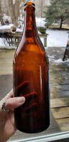 MT. Carbon Brewery Pottsville Pennsylvania Large Vintage 1qt.brown glass bottle