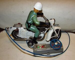 Tin Motorcycle Toy Bandai Police Auto Cycle 1960's