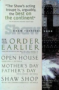 Shaw Festival 2000 Program Ontario Canada Plays