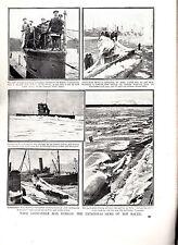Bloqueo submarino & Defensa campaña gran guerra 56 páginas consecutivos Circa 1919