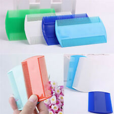 2pcs Fine Tooth Pet Head Lice Plastic Kids Hair Combs Flea Double Sided Nit