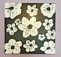 12x 12 Original hand-painted Floral acrylic painting on canvas