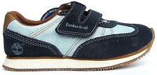 Boys Childrens Infants Timberland Casual Hook and Loop Denim Trainers Size UK