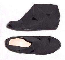 UNITED NUDE low boots à enfiler cuir verni & textile noir P 36 TBE