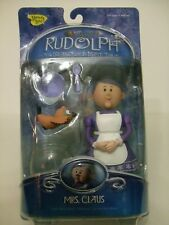 "NEW MEMORY LANE ""RUDOLPH ISLAND OF MISFIT TOYS"" MRS.CLAUS W MISFIT BIRD,FISHBOWL"