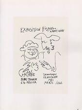 "1989 VINTAGE ""HISPANO AMERICAINE 3"" PICASSO MOURLOT COLOR offset Lithograph"