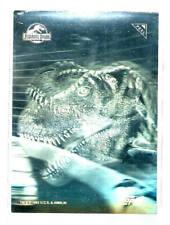 1993 TOPPS JURASSIC PARK SILVER ACTION HOLOGRAM INSERT CHASE CARD #1