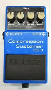BOSS CS-3 Compression Sustainer Guitar Effect Pedal 1990 #A91 ACA 12V DHL or EMS