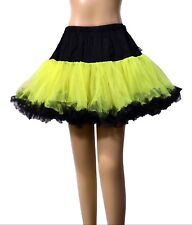 Neon Yellow Petticoat Tutu Skirt - Neo Vintage Style Emo Gothic Punk Rave Cyber