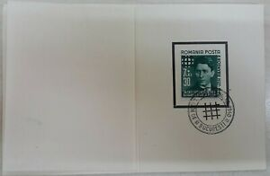 Romania 1940 Booklet C.Z.Codreanu Iron Guard Leader stamp with special cds RARE