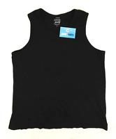 George Mens Size L Cotton Black Vest Top