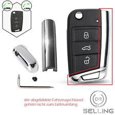 Schlüsselkappe + Seitenteil Chrom passend für VW Golf 7 Seat Leon 5F Ibiza Skoda