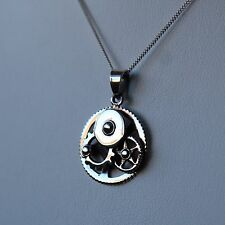 Sterling silver Machine mechanism Pendant Necklace by Lepos Jewellery
