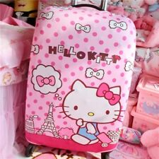 "Hello Kitty Pink Dot Suitcase Cover Trolley Bag Luggage Protector 24-26"" KK889"