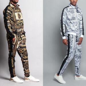 MEN'S Luxury Tiger Track Pants & Jacket Jogging Track Suit Set  S~5X   ST552EY