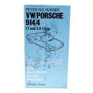 RARE 1975 VW/PORSCHE 914/4 1.7 & 2.0 LTR REPAIR GUIDE GLOVEBOX - PETER RUSSEK