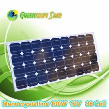 100 Watt 100W Solar Panel 12V Monocrystalline Off Grid RV Boat Battery Charger