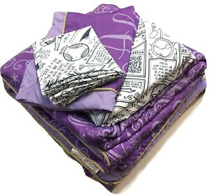 Harry Potter Always Purple Comforter Bedding Set 7pc Full Sheets Sham Pillowcase