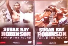 SUGAR RAY ROBINSON POUND FOR POUND VOL 1 & 2 2 X DVD BOXING LEGEND