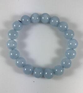Chalcedony Bead Stretch Bracelet