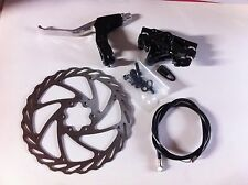 BICYCLE DISC BRAKE FRONT SET 160MM ROTOR CALIPER CABLE NEW