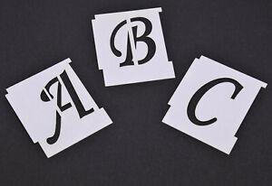Alphabet Letter Stencils  A-Z WEDDING SCRIPT Individual Stencils 15mm-100mm