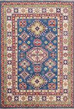Vegetable Dye Tribal Super Kazak Oriental Area Rug Hand-knotted Foyer Carpet 5x7