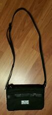 Lactose Black Nylon Crossbody Purse Messenger Day Bag