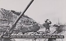World War II Troop Laden Duck on Invasion Road in Southern France June 12, 1944