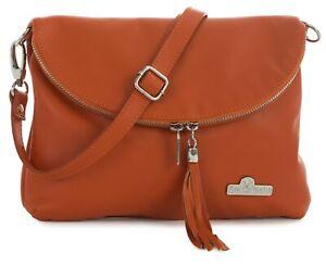 LiaTalia Womens Medium Leather Bag - CrossBody Messenger Long Shoulder Strap