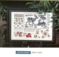 LUCIA'S SAMPLER  - CROSS  STITCH PATTERN ONLY -   HM - WUA