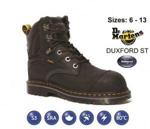 Dr. Martens Men's Black Duxford Work Boot Steel Toe Safety Waterproof Antistatic