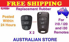 2x 3 Button Remote Flip Key Fob Case Repair Rubber Pad For Hyundai i10 i20 i30