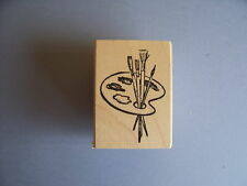 100 PROOF PRESS RUBBER STAMPS ARTIST'S PALETTE NEW wood STAMP