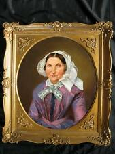 BIEDERMEIER PORTRAIT EINER AUFWENDIG GEKLEIDETEN ÄLTEREN DAME,TRACHTEN, CA. 1820