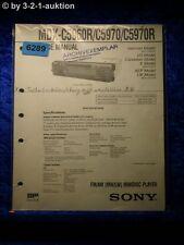 Sony Service Manual MDX c5960r/c5970/c5970r Mini Disc Player (#6289)