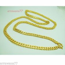 "Men's 22K 23K 24K THAI BAHT YELLOW GOLD GP FILLED NECKLACE Jewelry  26 "" 7 mm"