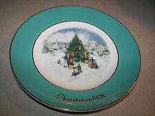 Christmas Plate Series 1978 Avon 6th Ed. Trimming The Tree Enoch Wedgwood