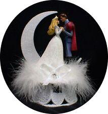 Disney Princess Sleeping Beauty & her Prince Wedding Cake Topper Fairytale WHITE