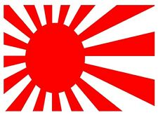 JDM Japanese Rising Sun Flag Vinyl Decal Sticker Honda Nissan 225mm x 135mm