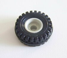 PLAYMOBIL (P606) SAFARI - Roue Noir Brillant Toutes Jeep Vintage 3532 3437 3478