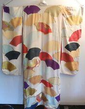 Vintage JAPANESE Traditional Wedding KIMONO Robe Silk GOLD SILVER Embroidered 金銀