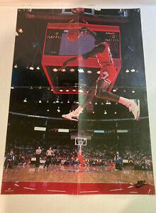 1988 Michael Jordan Wheaties Slam Dunk Bulls Nike Poster Vintage 23x16