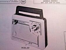 ADMIRAL 221, 227, 228 TRANSISTOR RADIO PHOTOFACT